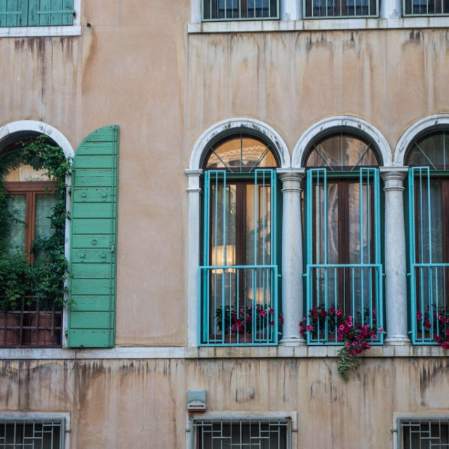 Pastel Shutters copyright @ Ashley Bremer
